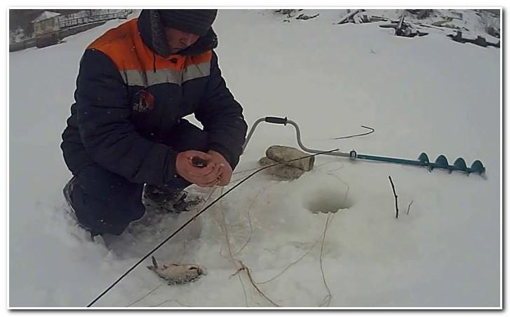 как поймать зимой на косынку