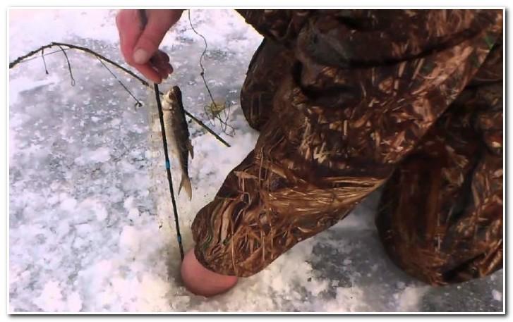 ловля зимой на косынку
