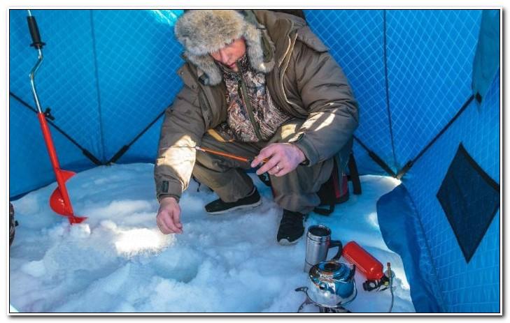 ловим зимой в палатке