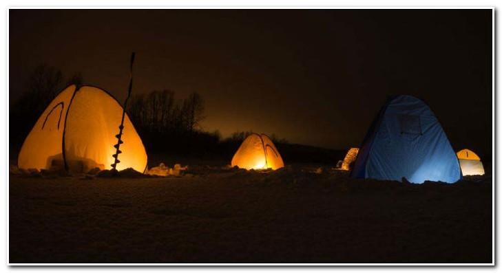 ловля зимой в палатке