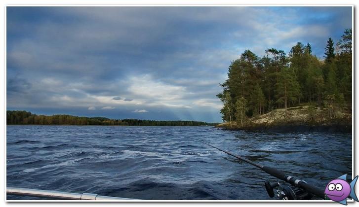 на рыбалке в карелии