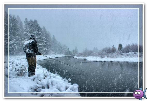 зима снегопад рыбалка